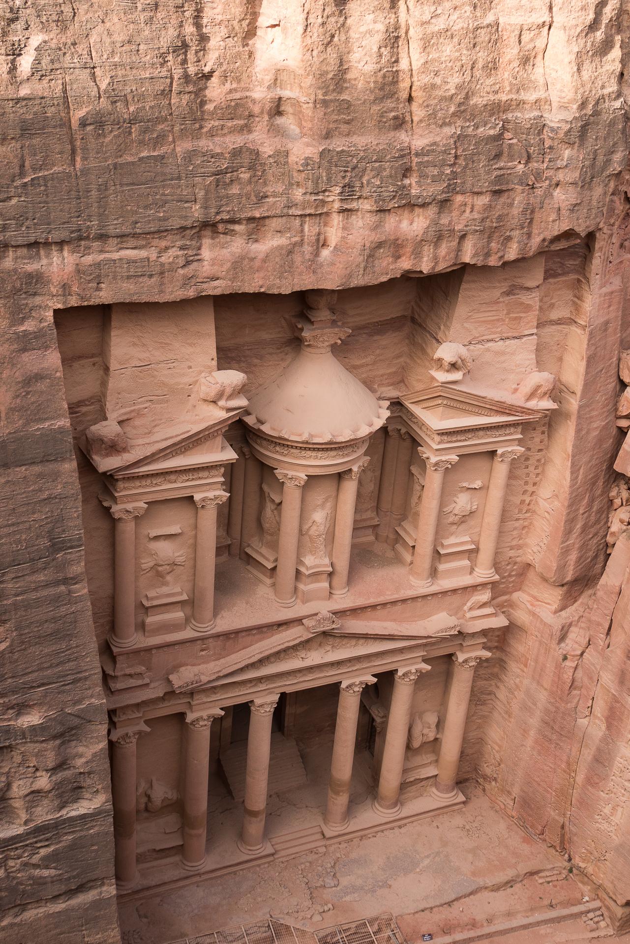 petra jordanie le tresor d'en haut