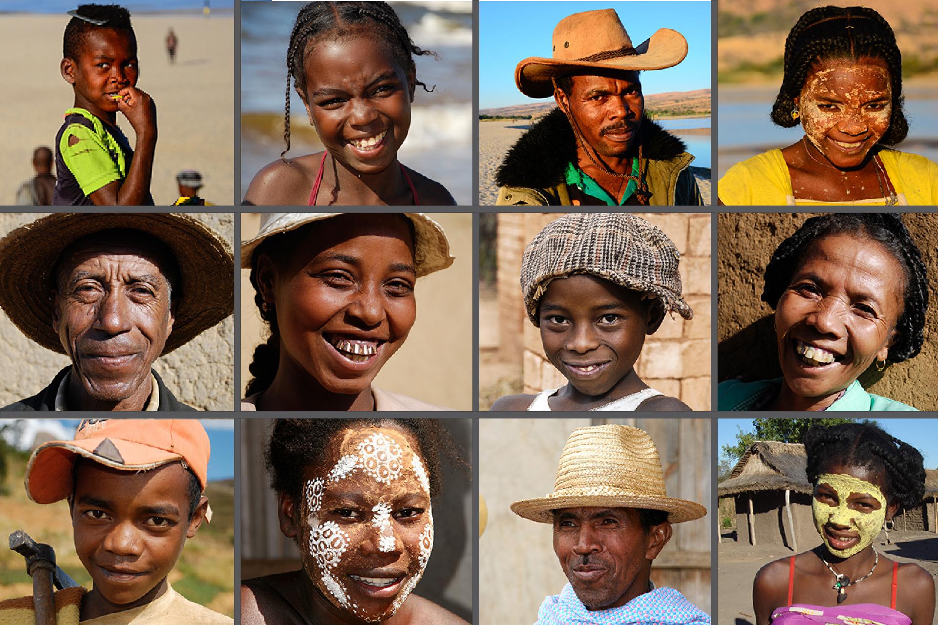 Mosaique visages malgaches