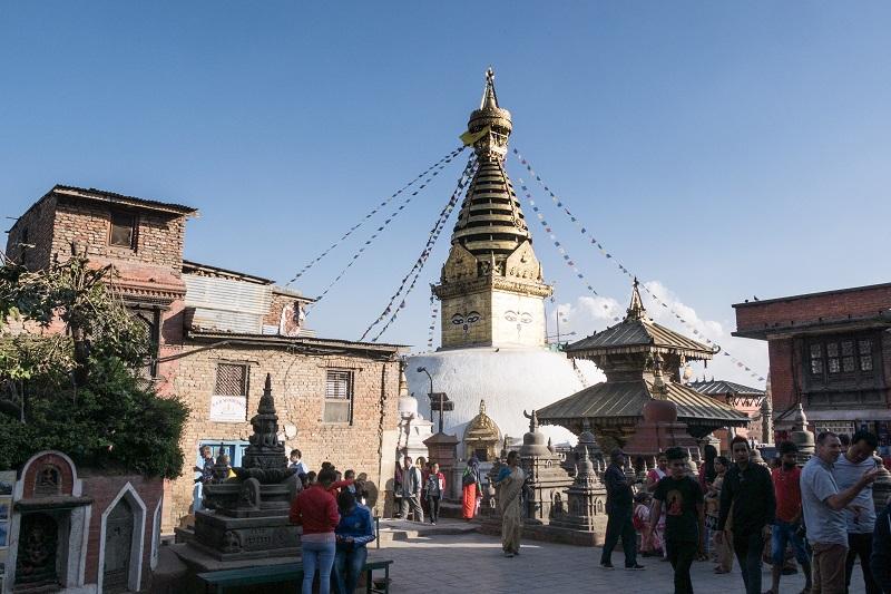 Bodnath veille Kathmandu