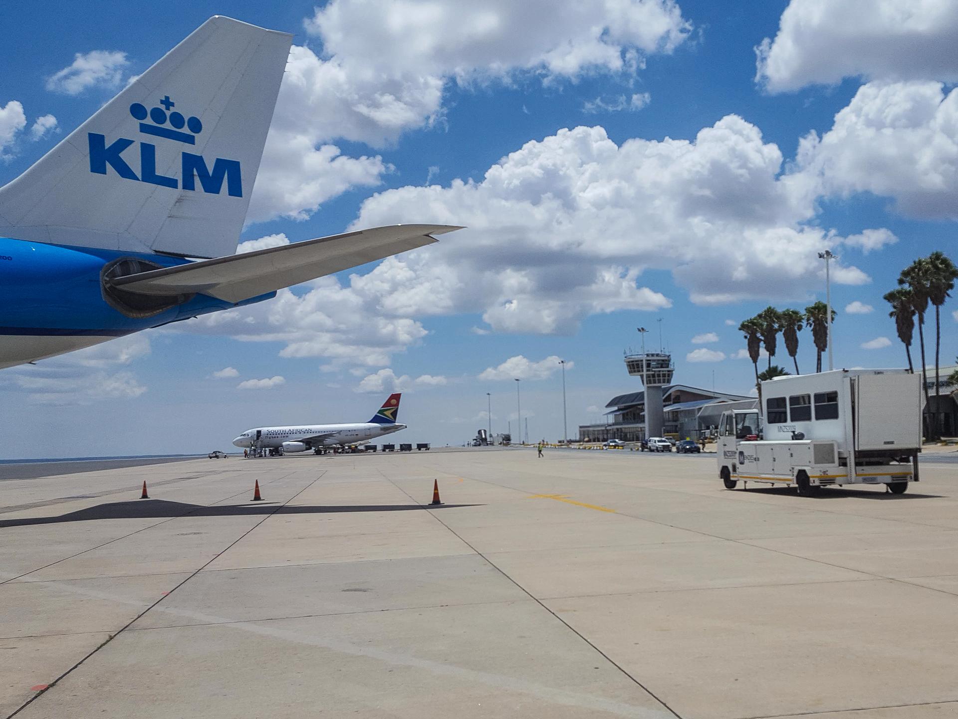 Namibie sur mesure aéroport de Windhoek vol klm