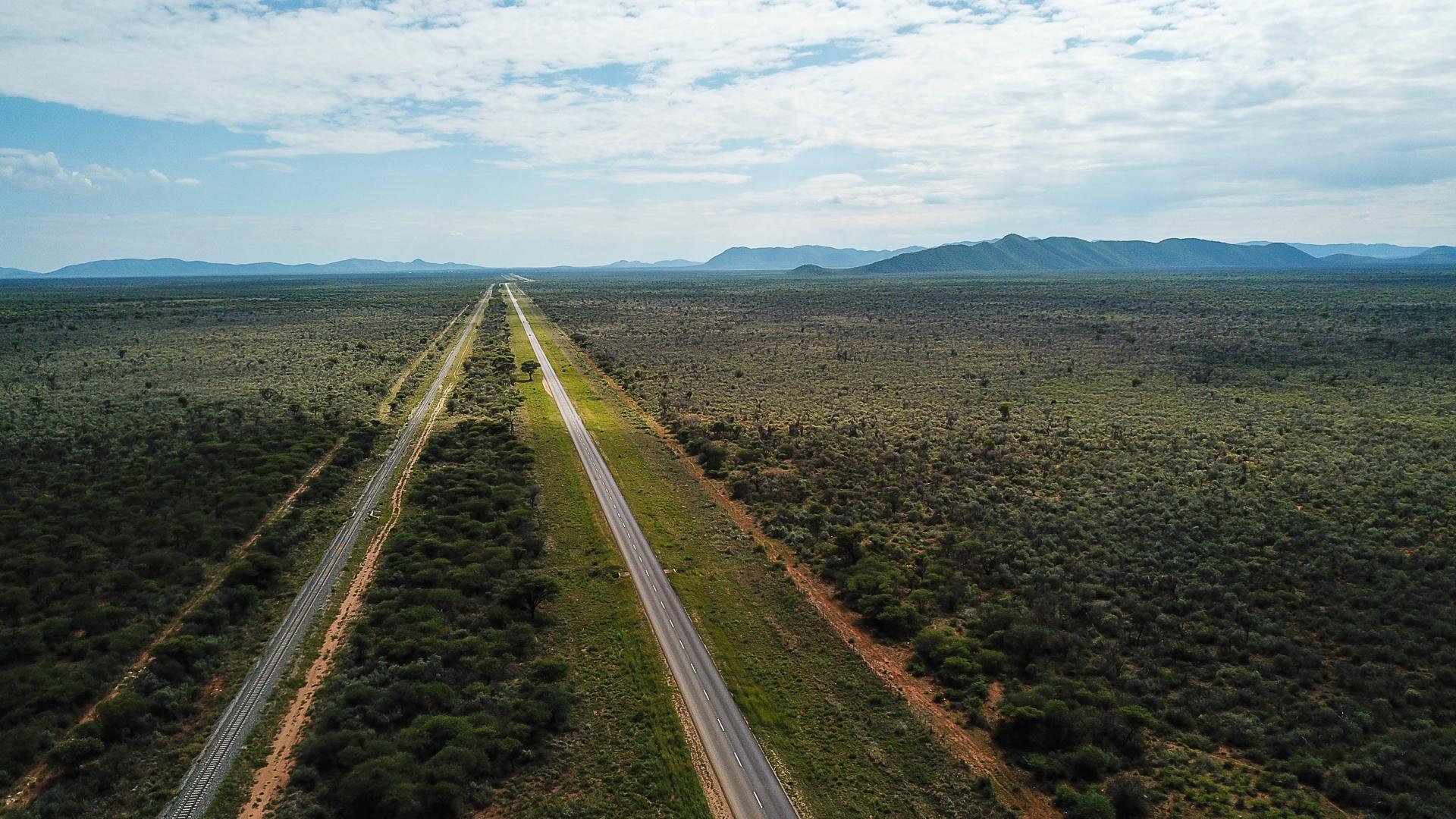 route droite entre Windhoek et Otjiwarongo
