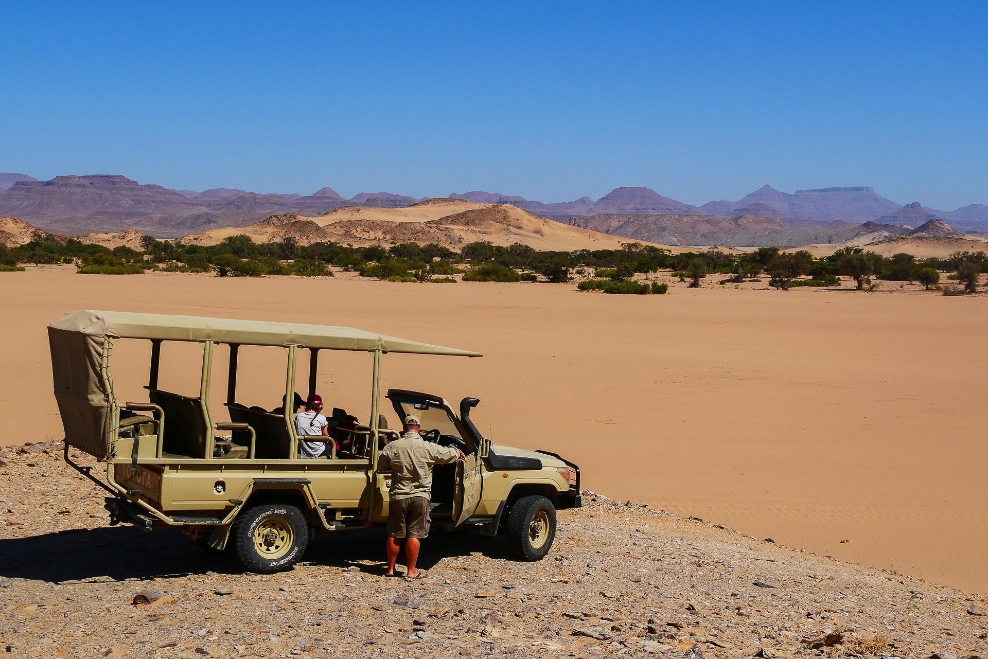 safari pour les éléphants du desert Namibie