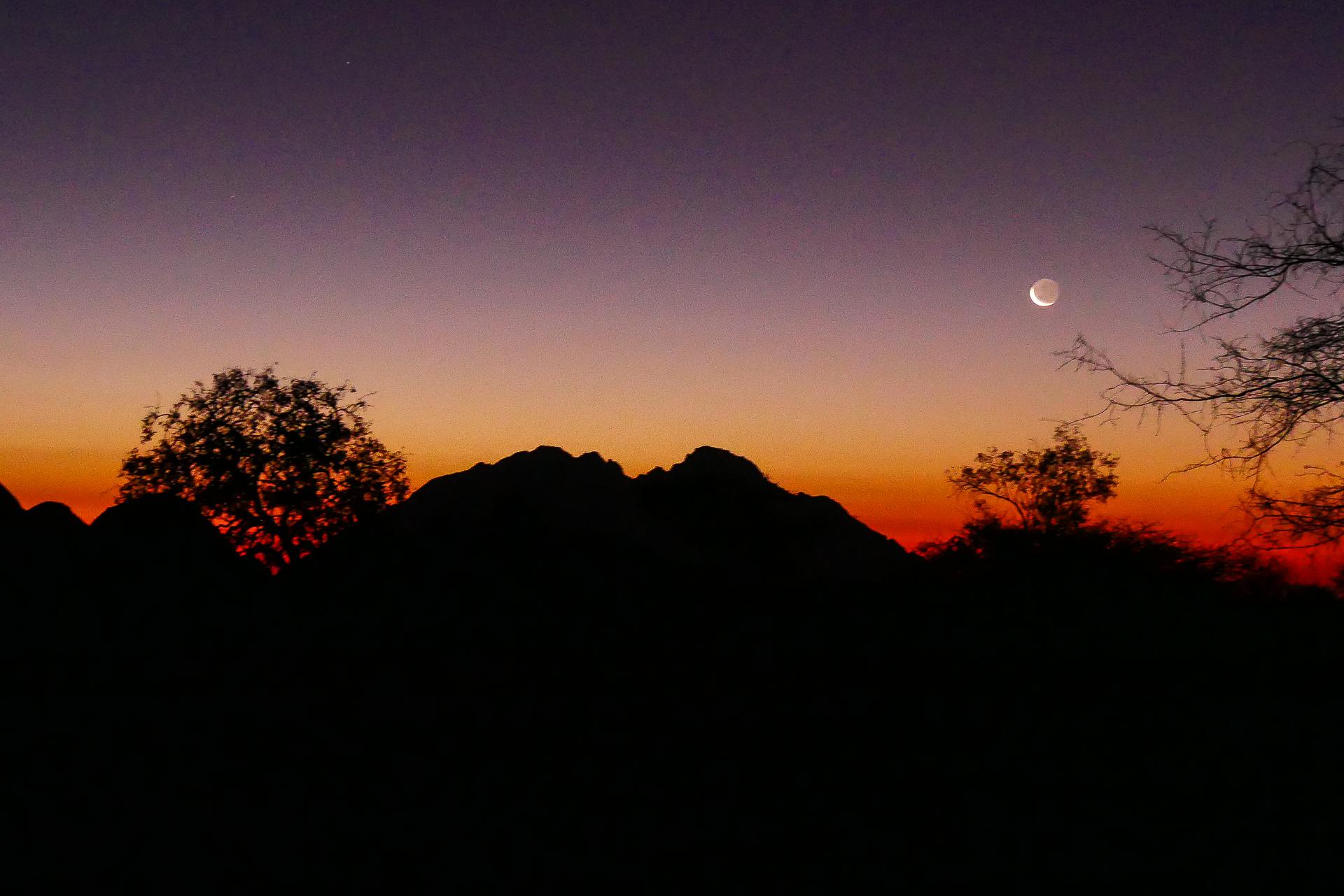 coucher du soleil au Spitzkoppe Namibie