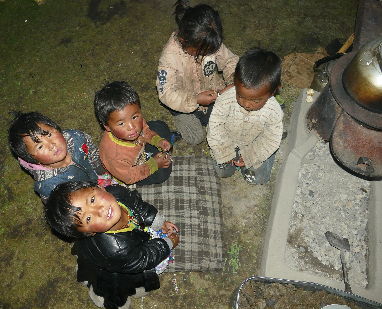 Enfants nomades Tibet Amdo