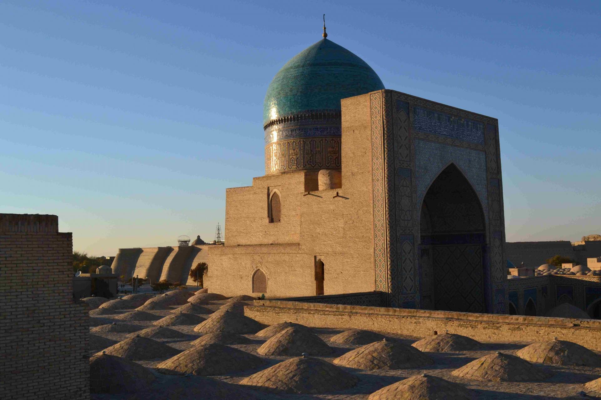 Coucher de soleil sur Boukhara Ouzbékistan