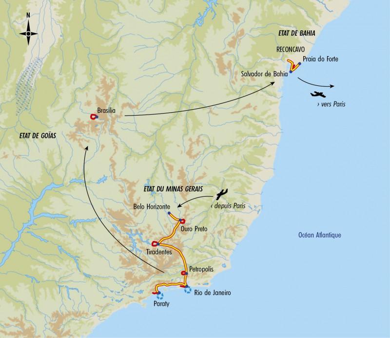 Itinéraire Trésor du Brésil voyage Tirawa