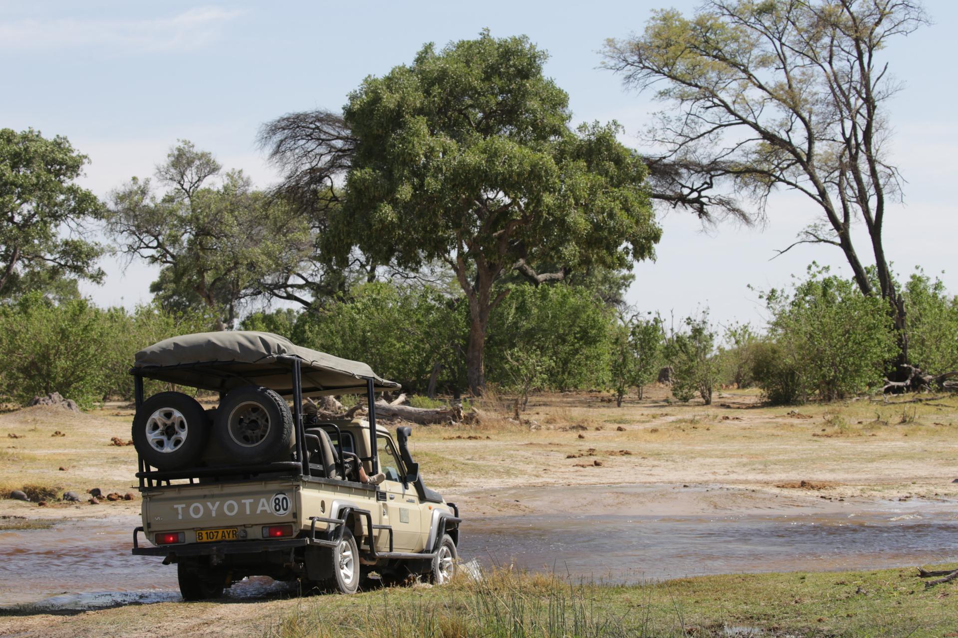 Vehicule Safari Chobe Botswana