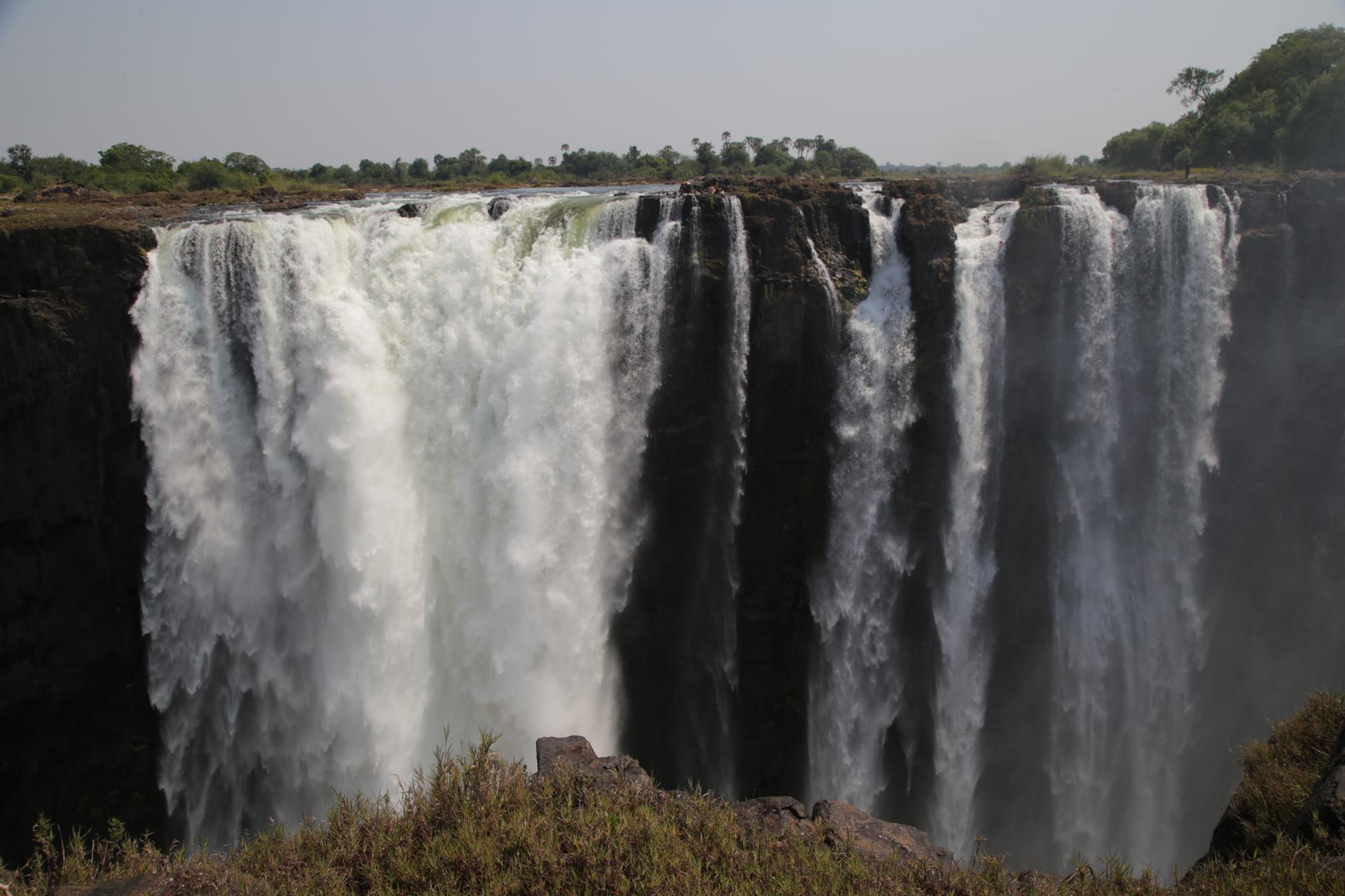 Chutes victoria coté Zimbabwe