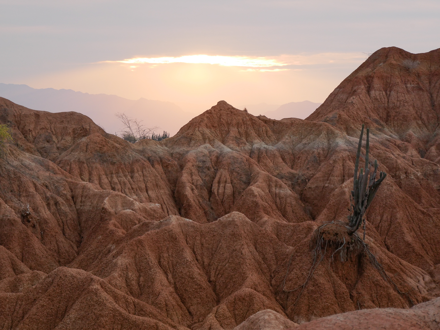 Tatacoa désert rouge Colombie