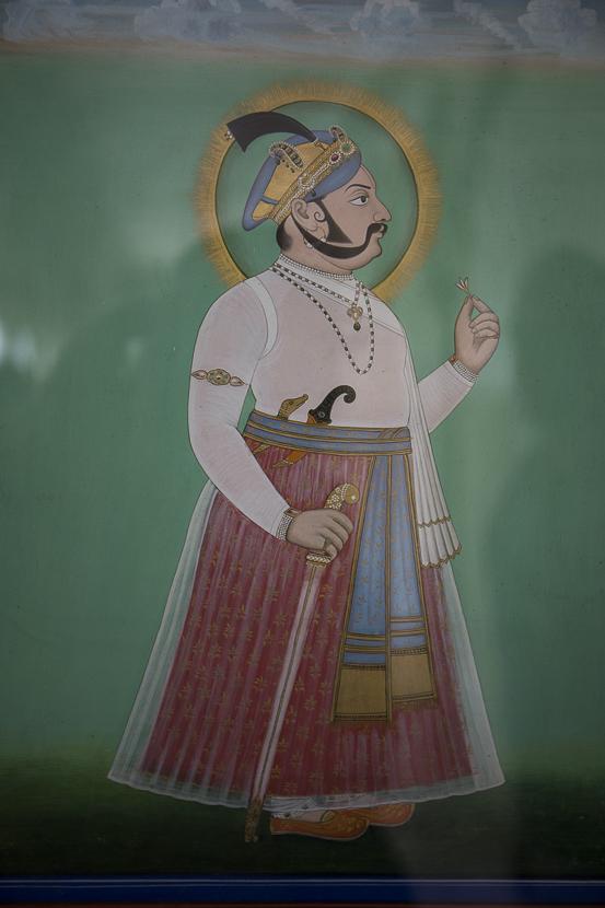 Peintures et décorations du city palace d'Udaipur
