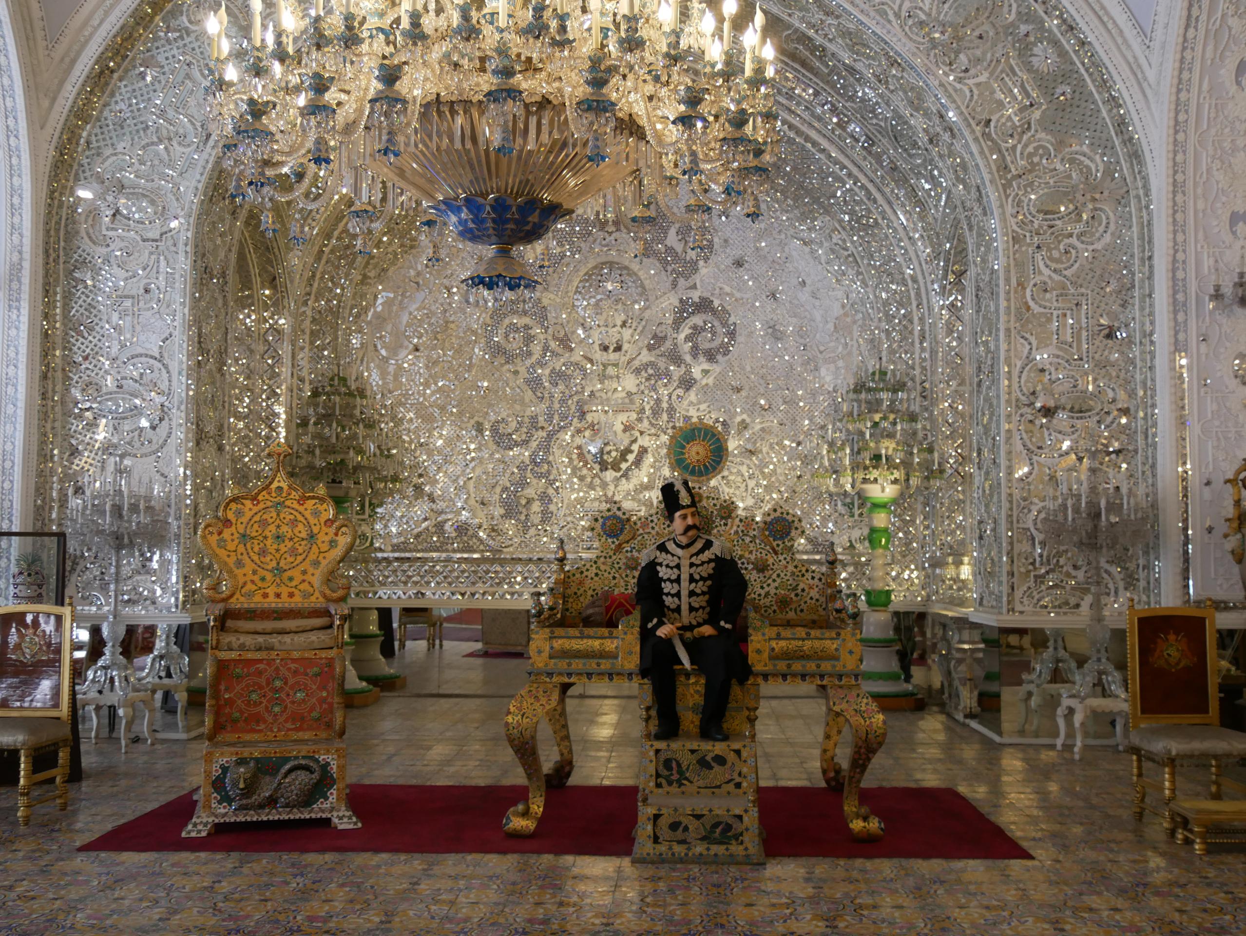 Golestan à Téhéran salle du trone