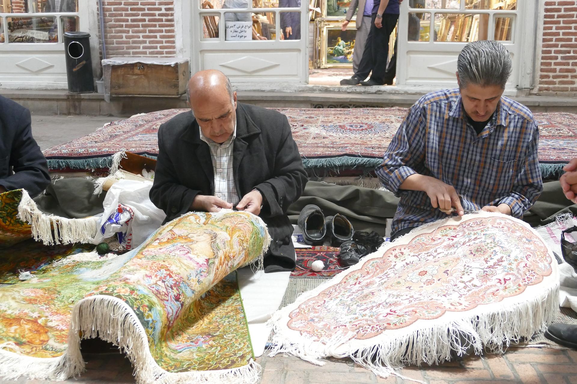 Bazar de Tabriz : les tapis
