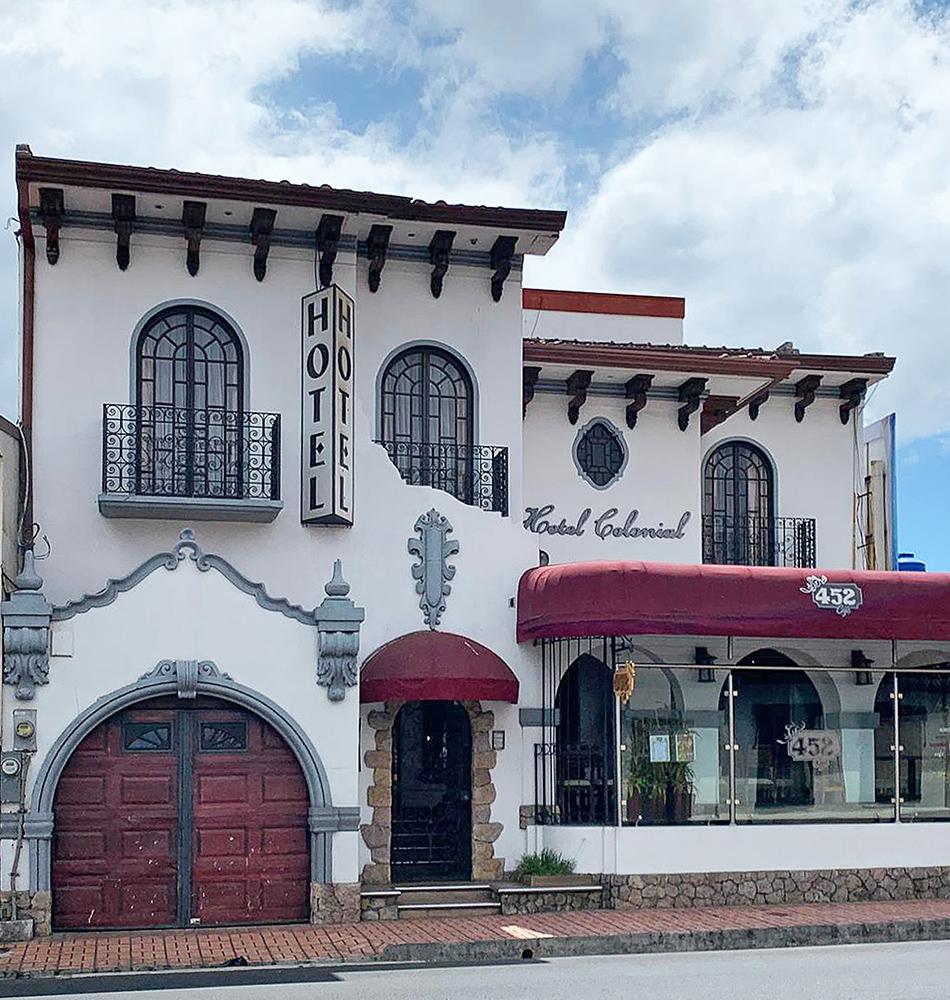 L'hôtel Colonial à San José, le camp de base arrivée et retour