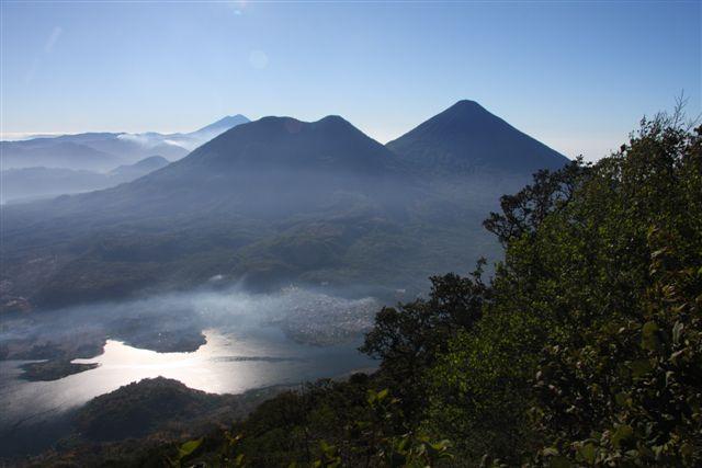 Vue panoramique depuis le sommet du Volcan San Pedro