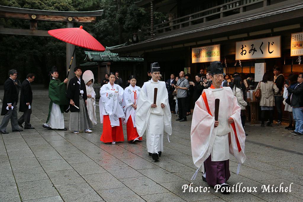 Cérémonie de mariage au sanctuaire Meiji, Tokyo