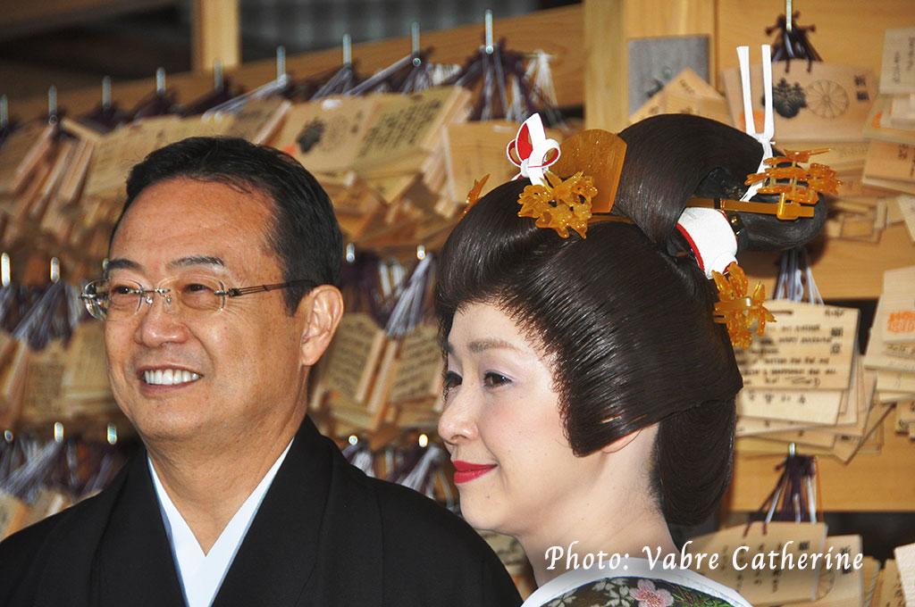 Mariés au sanctuaire de Meiji, Tokyo