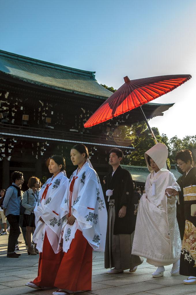 Cérémonie de mariage, sanctuaire Meiji, Tokyo