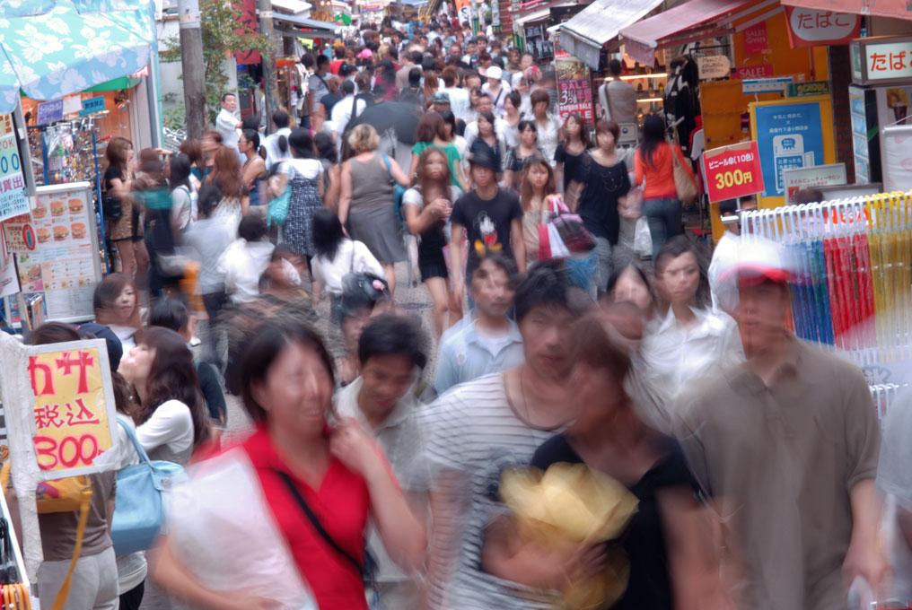 La ruelle Takeshita à Harajuku, toujours très animée. Tokyo