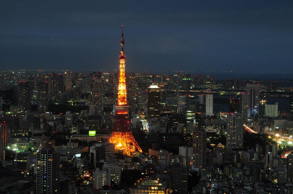 Tokyo Tower, vue depuis l'Observatoire de  Mori, Roppongi Hills