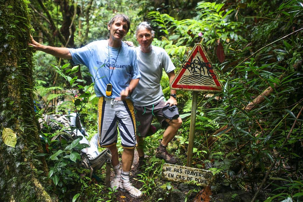 Eric et Michel, nos deux guides de Tahiti