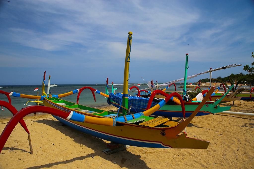 Bateaux traditionnels à Sanur