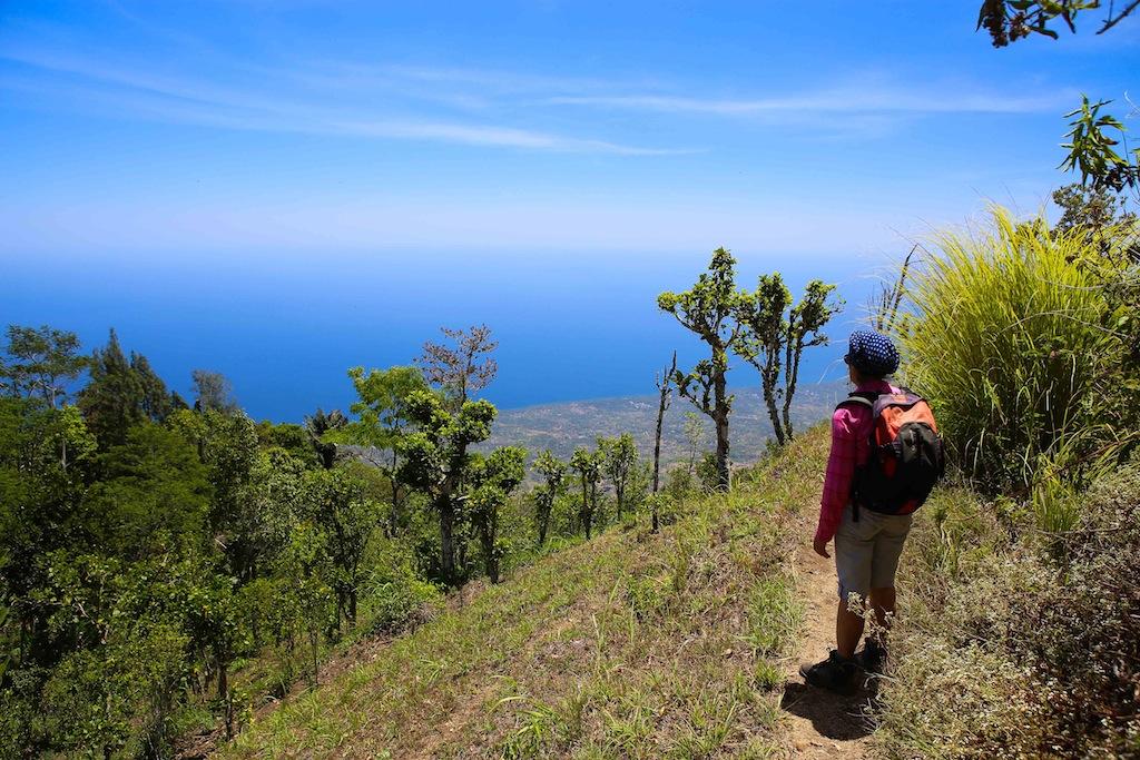 Sur la caldera du Batur