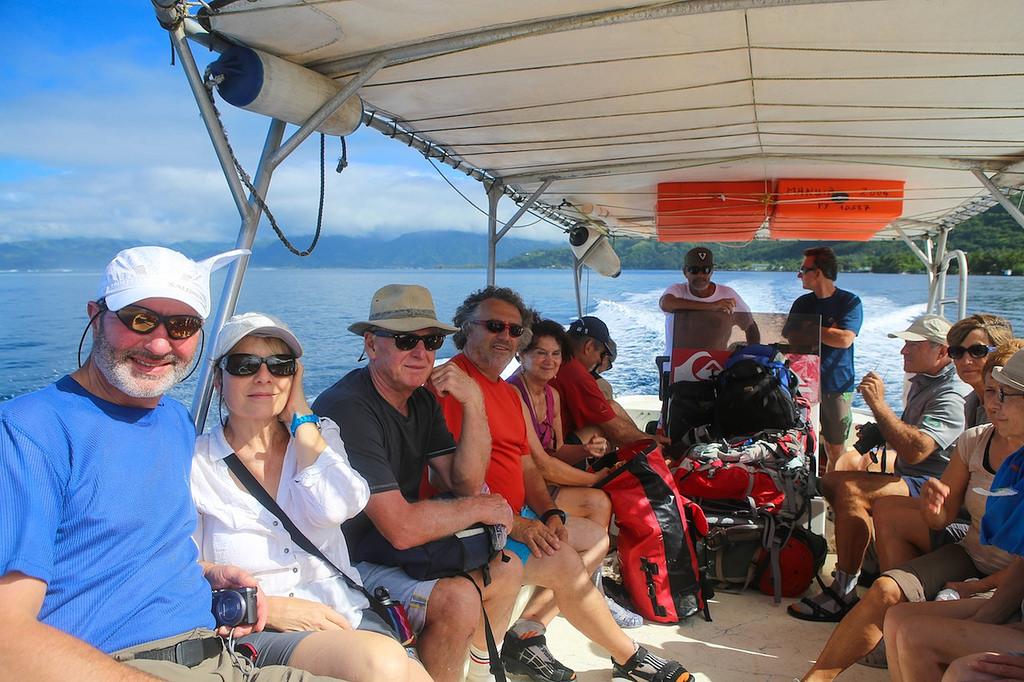 Sur la bateau, destination Te Pari