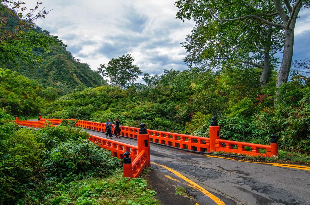 Sur le chemin au Sacntuaire de Yudono-san