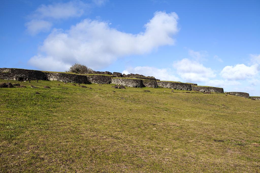 Maisons de pierres d'Orongo