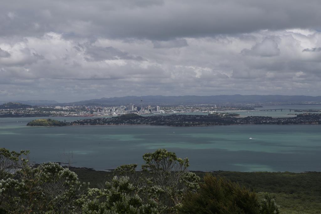 La ville d'Auckland depuis le sommet de Rangitoto