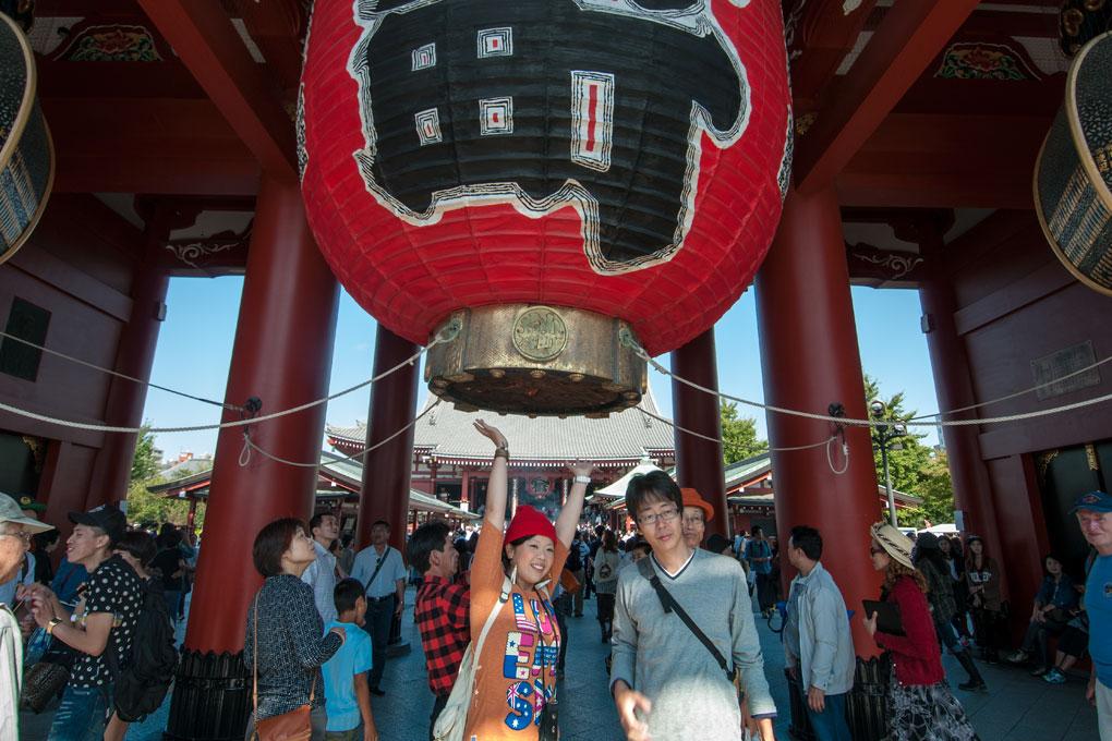 Kaminari-mon, la lanterne géante à l'entré du Temple Kannon, Asakusa