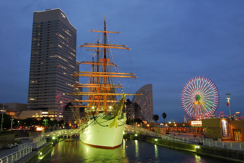 Nippon Maru, le bateau-musée de Minato Mirai à Yokohama