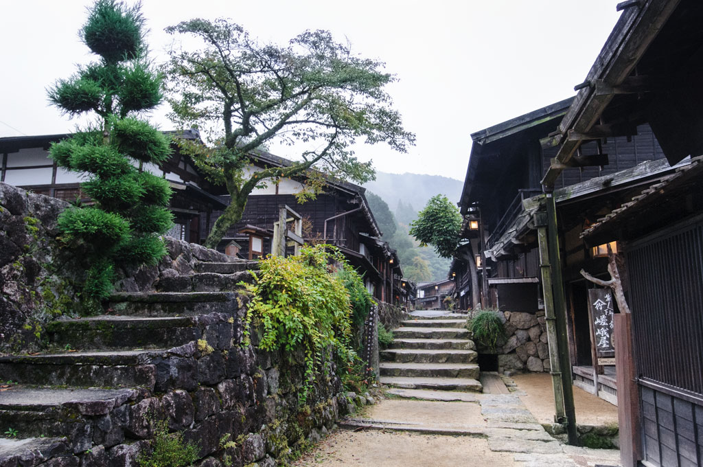 Ruelle dans le village de Tsumago