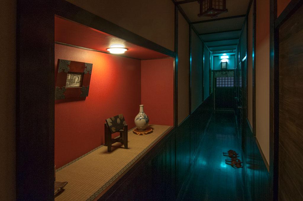 Intérieur de notre Minshuku, pension familiale à Tsumago