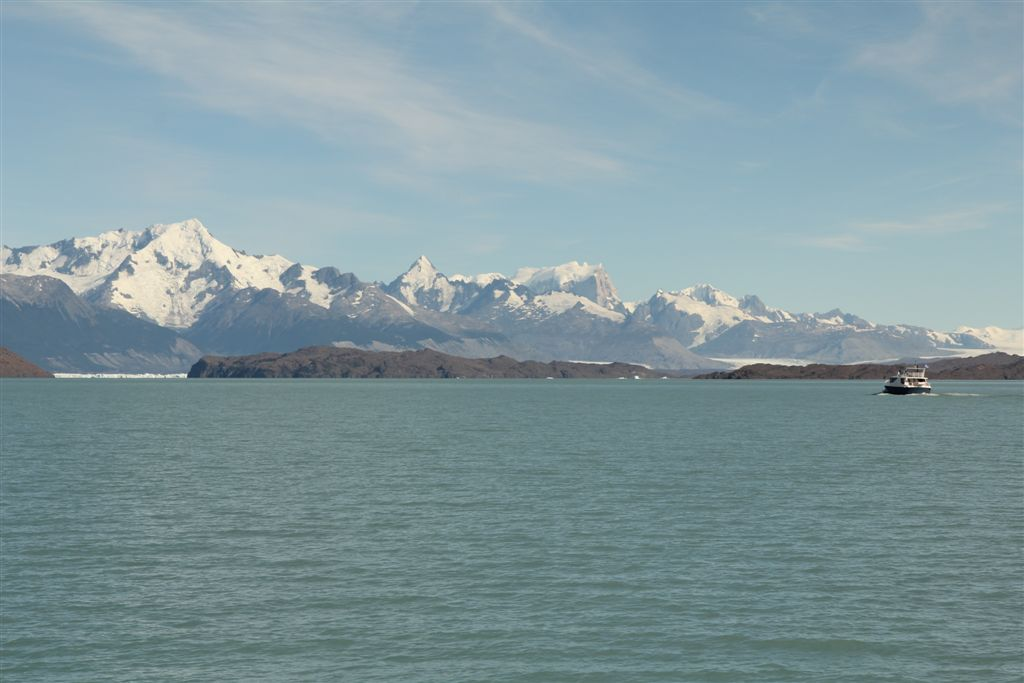 La cordillère des Andes au dessus du lago Argentino