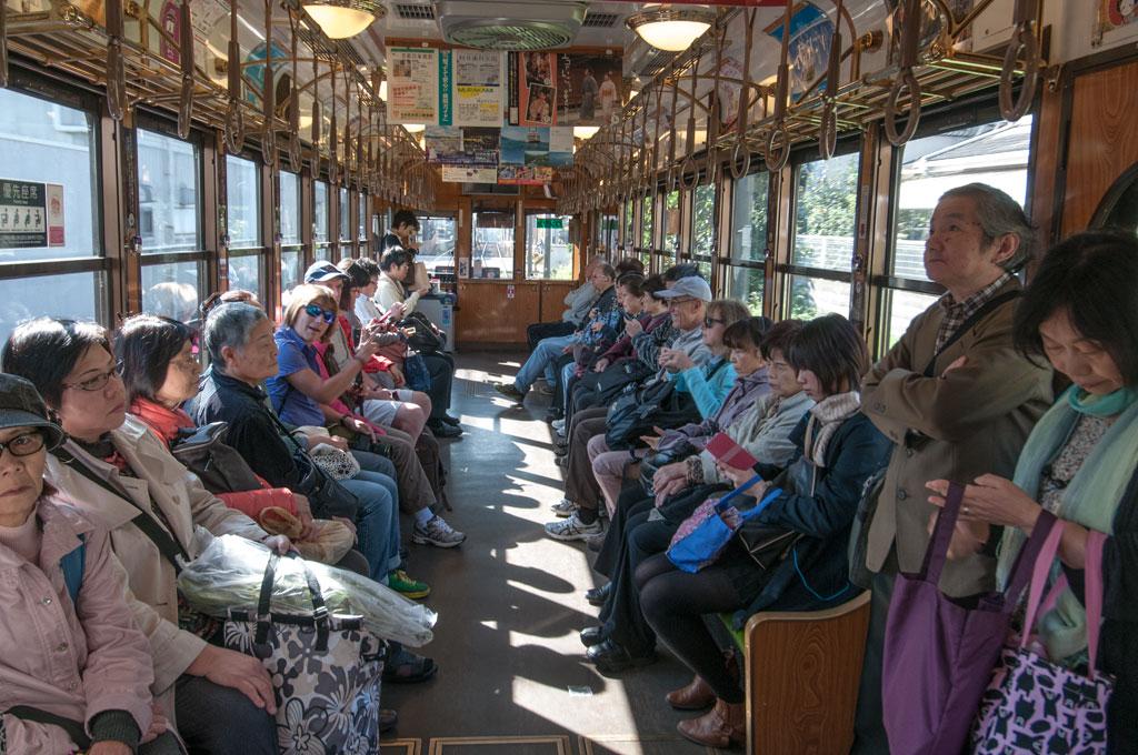 Dans un train de Kyoto