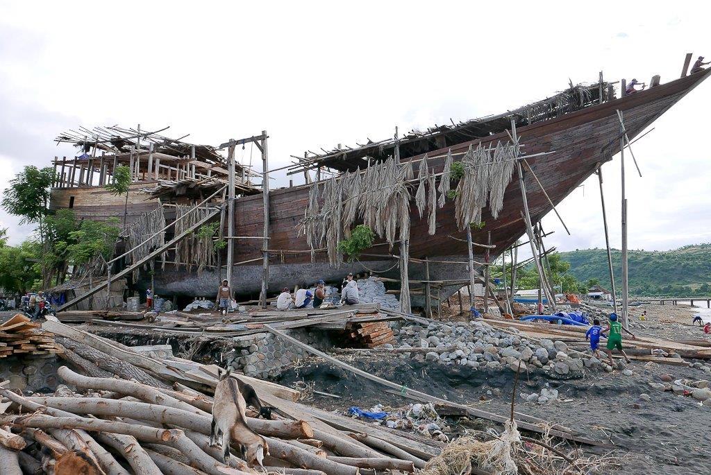 Cargo de 35 mètres en cours de construction