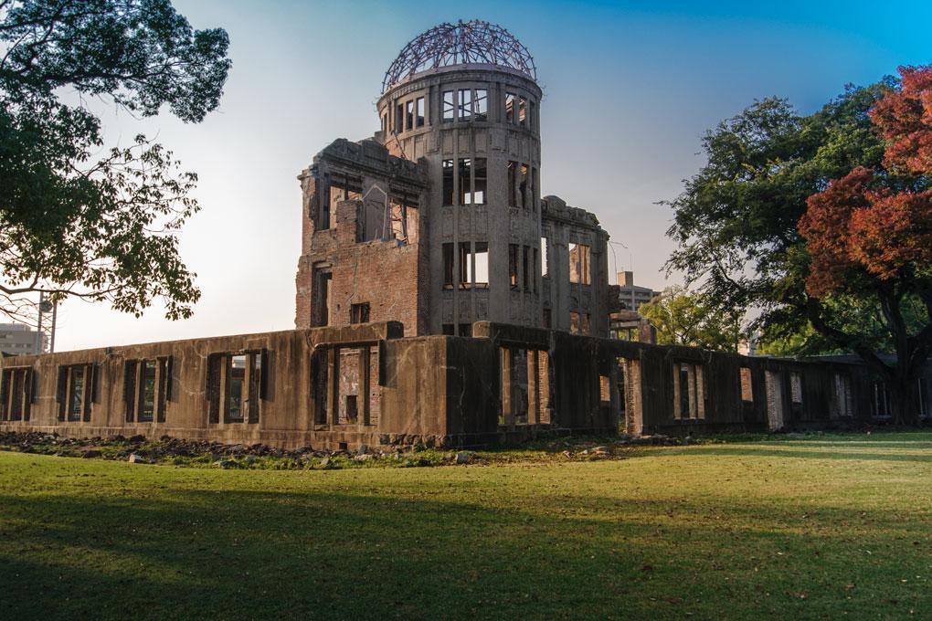 Le Dôme de Genbaku, préservé tel qu'il était après l'explosion atomique et devenu symbole de Hiroshima
