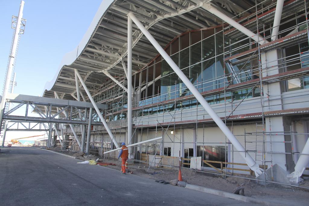 Le nouvel aéroport de Calama en cours de finition