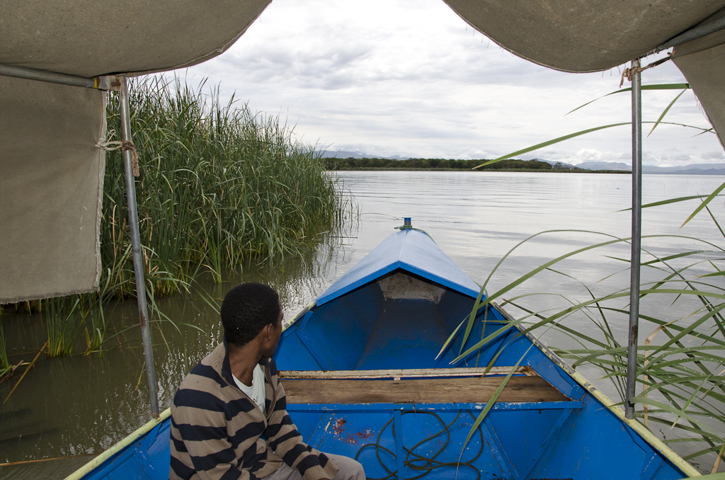 Bateau sur le lac Chamo