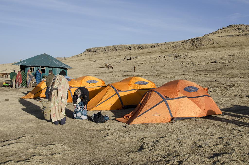 Notre campement à Geech (3600 m)