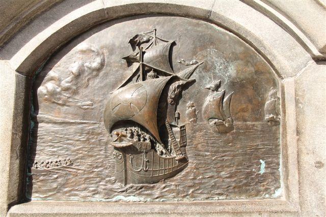 Plaque commémorative du passage de Magellan en 1520