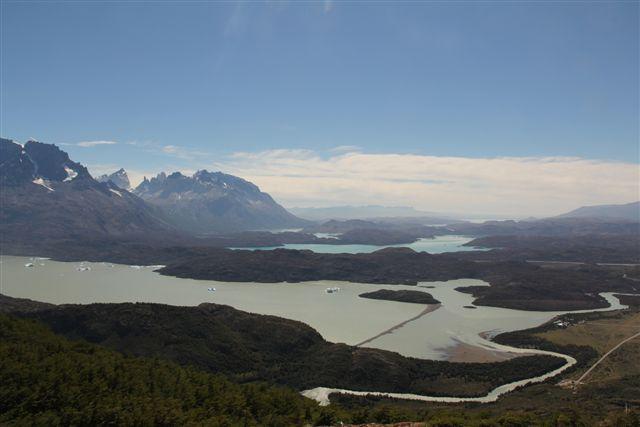 Les grands lacs au pied des Cuernos