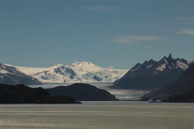 Lac et glacier Grey, depuis le mirador éponyme