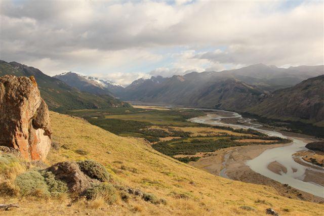 La vallée du rio de las Vueltas