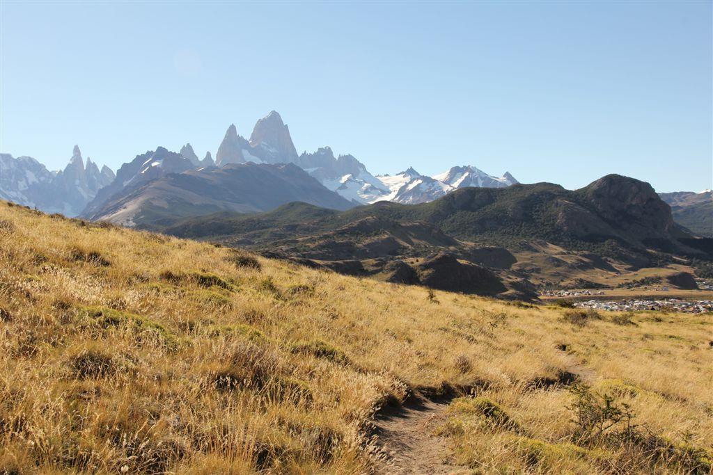 En redescendant du mirador Aguilas, le massif du Fitz et Chalten