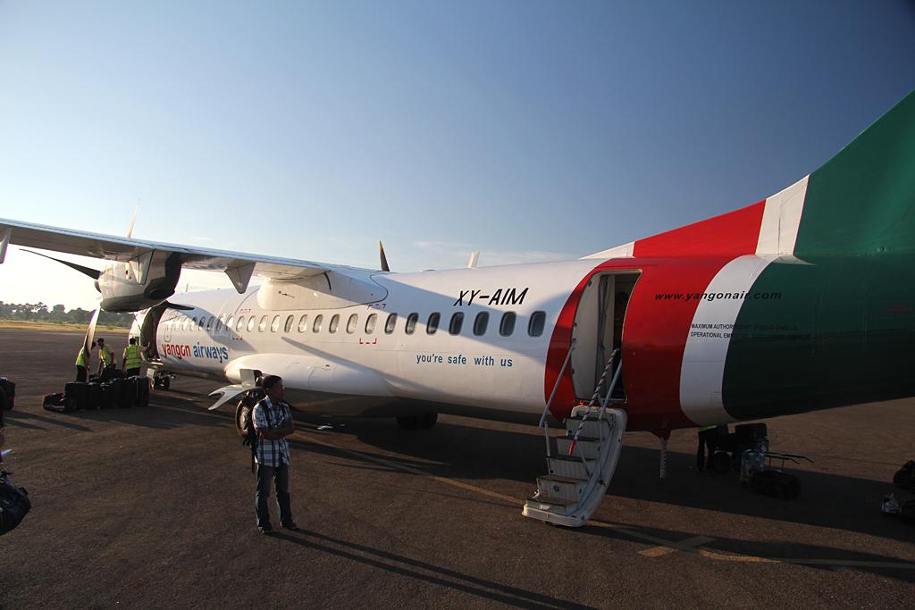 Vols intérieurs sur la compagnie Yangon Airways