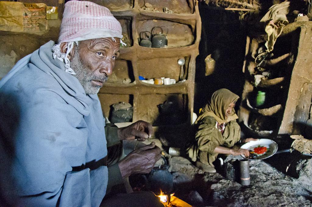 Cérémonie du café chez l'habitant, village de Geech