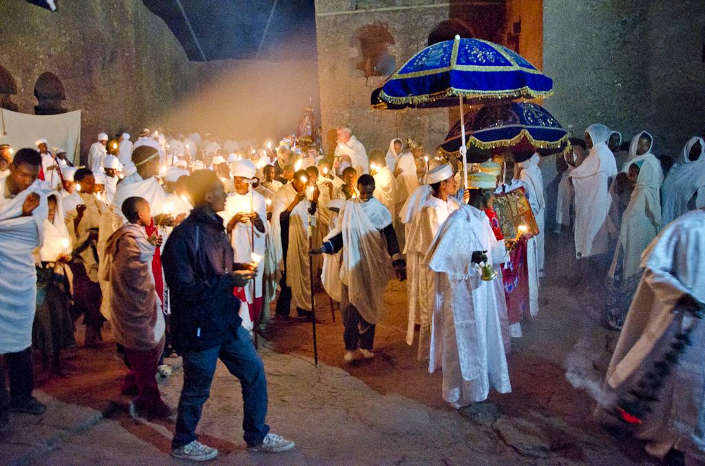 Lalibela, lors des fêtes de Fasika (Pâques)