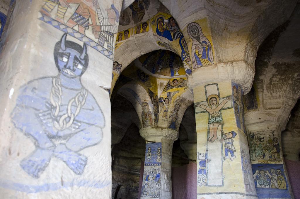 Intérieur de l'église d'Abuna Gebre Mikael